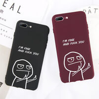 For iPhone XS Max XR 8 7 6Plus Funny Cute Cartoon Soft Silicone Phone Case Cover