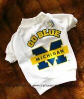 Michigan Wolverines Dog Tee Shirt Size Medium