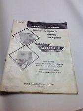 Noble Simul-Caster Insecticide Applicator operator's manual