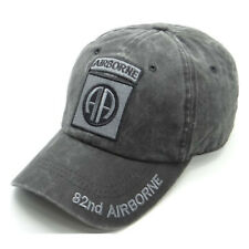 US Military 82nd Airborne Logo Tonal Pigment Washed Cotton Baseball Cap