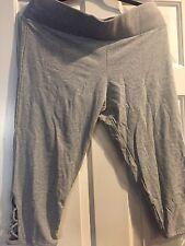 Victoria's Secret Gray  criss cross leggings  Xl New Yoga Workout Cropped Pants