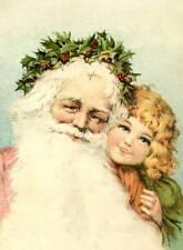 Victorian Santa and Girl