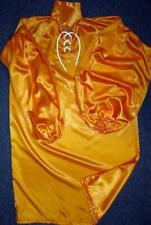 Plus Size Satin! Special High Shine Tangerine Satin Balloon Shirt Gown