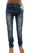 Jeans bleu en polyester pour fille de 2 à 16 ans