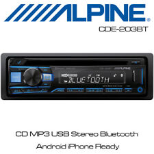 Alpine CDE-203BT - CD MP3 USB Stereo Bluetooth Android iPhone Ready