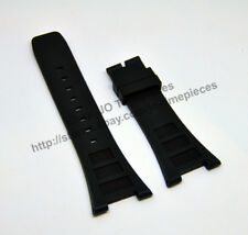 30mm Black Rubber Watch Band Strap - Comp. IWCWatch INGENIEUR FAMILY IW323601