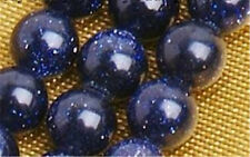 8mm Galaxy Staras Blue stone Sun Sitara Loose Bead 15inch