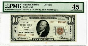 1929 $1 FR#1801-2 T2 1st Natl Bank WYANET IL Low Serial Number 449 PMG-EF45 2025