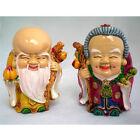 Statuettes figurines chinoises, couple de vieux sages longévité