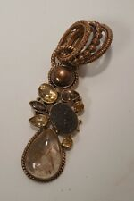 Rutilated Quartz-Druzy Quartz-Smoky Quartz-Citrine-Pearl-Long Copper Pendant
