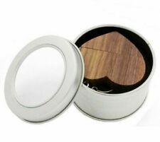8GB Wooden Heart Shaped Memory Stick USB Flash Drive Keyring & Presentation Tin