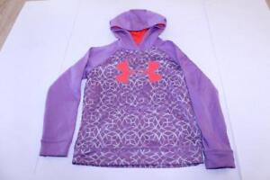 Youth Boys Under Armour S Loose Fit Hooded Sweatshirt Purple & Pink