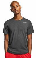 Nike Herren Sportshirt Fitnessshort Freizeit-T-Shirt M Nike Breathe schwarz