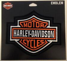 9487 HARLEY DAVIDSON BAR & SHIELD MEDIUM SEW ON CLOTH PATCH MOTORCYCLE