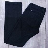 Columbia Luxi Lady Roll Denim Pant Womens 4 30x31 Black Outdoor Hiking J00