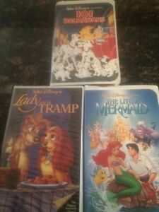 3 DISNEY Black Diamond VHS Tapes *BEAUTY & BEAST *101 Dalmations *LITTLE MERMAID