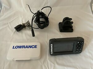 Lowrance Hook2 4X Fish Finder with Transducer, Power Cable and Cover