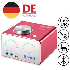 Red Bluetooth Leistungsverstärker HiFi Home Stereo Audio Power Amplifier USB