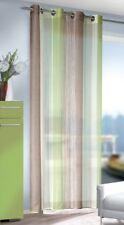 Ösenschal / Ösenvorhang mit Farbwechsel Grün / Weiß / Braun in BxH 135 x 245 cm