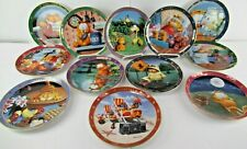 A Day With Garfield Collector'S Plates (Lot Of 12) Different- Danbury Mint