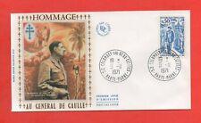 FDC 1971 - Tributo En General de Gaulle (1433)