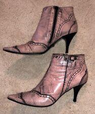 LATITUDE FEMME Stiefelette Ankle Boots  Echtleder Vintage-Look Gr 39-40