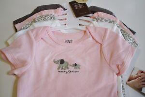 Carter's Baby Girl Bodysuit Tops Size Preemie