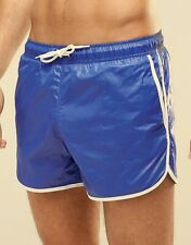 Shiny Nylon Retro Sprinter Wet Look Swim Shorts Gay interest. Last Pair Large