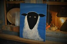 Hand Painted By Artist Olde Sheep On Canvas Primitive, Rustic, Folk Art Decor