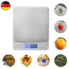 Edelstahl Digital Küchenwaage Haushaltswage LCD Küchenwaage Feinwage 3kg/0,1g