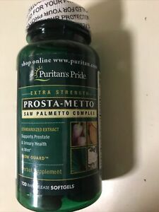 PURITANS PRIDE PROSTA METTO EXTRA STRENGTH 120 SOFTGELS NEW SEALED