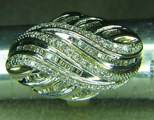 Magnificent Diamond Cluster Ring....... Ocean Wave.....