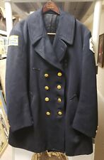 VINTAGE 1960s FASHION CHICAGO POLICE REEFER JACKET ALL BUTTONS PATCHES PD WOOL