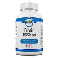 Biotina 10000mcg Max Strenght Vitamina B7 30 -1 Anno Compresse Capelli Unghie e