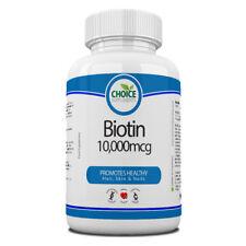 Biotin 10000mcg Maximale Stärke Vitamin B7 30 -1 Jahr Tabletten Haar und Haut