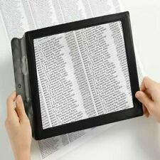 A4 Full Page 3x Magnifier Sheet Large Magnifying Glass Book Reading Aid LenNew