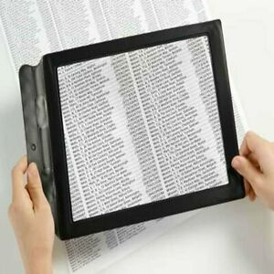A4 Full Page 3x Magnifier Sheet Large Magnifying Glass Book Reading Aid Len	New