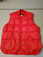 Eddie Bauer Vintage  Stylish Mens 40 Medium Goose Down Vest Red Hiking Trekking