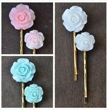 3 pares de accesorio para el cabello de boda de oro rosado BOBBY PIN PELO Bridesmaids Pinza de agarre