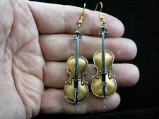 (#M13-D) Vuillaume Strad CELLO jewelry EARRINGS earring French wire pierced