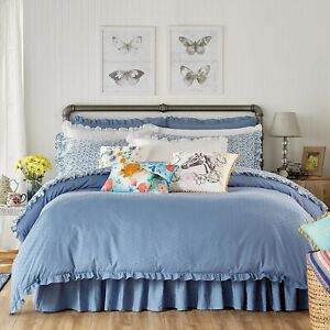 The Pioneer Woman Breezy Dot Comforter And 2 Pillow Shams Set Washed Denim King