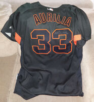 2007 San Francisco Giants RICH AURILIA Game Used Worn BP Signed Jersey