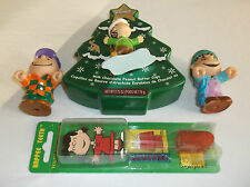 Vtg Peanuts Lot~ Whitman`s Linus Christmas Tree, Lucy Toothbrush Mip, Pvc Figure