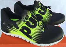 Reebok ZPump Fusion M47888 Black Solar Yellow Marathon Running Shoes Men's 13