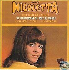 NICOLETTA JE NE PENSE QU'A T'AIMER CD SINGLE EP 4T no vinyl