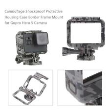 New Protective Camouflage Gray Frame Mount Housing Case For Gopro Hero 5 Camera