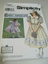 UNCUT Simplicity DAISY KINGDOM 7005 Sewing Pattern Girl's AA 3,4,5,6 Orig. 1996