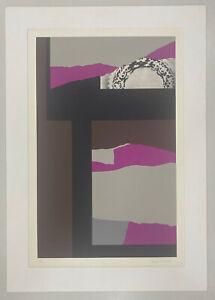 Original screenprint by Louise Nevelson: Purple Composition II