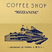 Vintage 1961 Coffee Shop Mezzanine Menu Tijuana Racecourse Horse Race Track