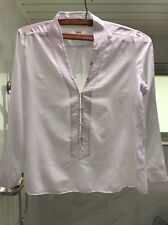 Tilly - Lee Mathews Arctic White Blouse XS 💯 Cotton